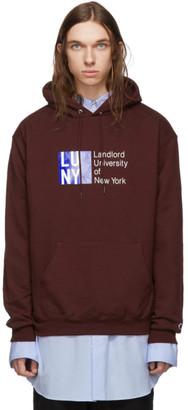 Landlord Burgundy Champion Reverse Weave Edition LUNY City Hoodie