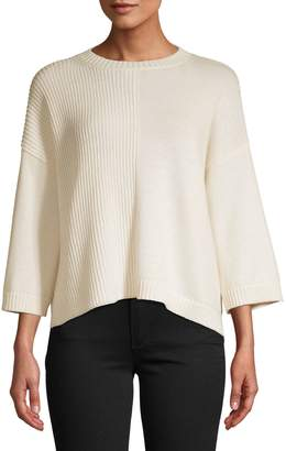 Max Mara Ribbed Cotton Wool Blend Sweater