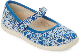 Naturino Toddler/Kids Girls) Blue Scribble Mary Jane Shoes