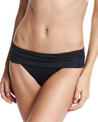 Vitamin A Solid Convertible Swim Bikini Bottom, Black