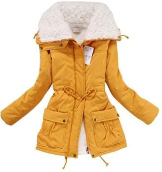 A+ro Aro Lora Women's Winter Warm Faux Lamb Wool Coat Parka Cotton Outwear Jacket US