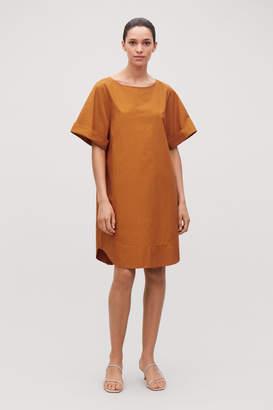 Cos LIGHTWEIGHT-COTTON A-LINE DRESS