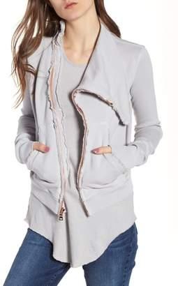 Frank And Eileen Asymmetrical Zip Fleece Jacket