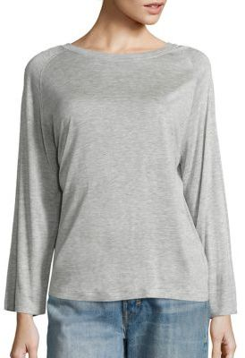 Vince Heathered Long Sleeve Tee $120 thestylecure.com