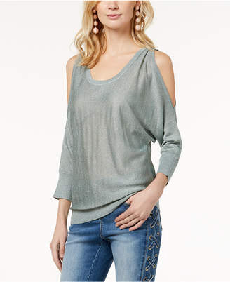 INC International Concepts I.n.c. Cold-Shoulder Shine Sweater, Created for Macy's