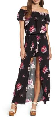 Mimichica Mimi Chica Off the Shoulder Maxi Romper