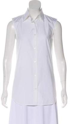 Giambattista Valli Sleeveless Button-Up Top