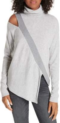 Brochu Walker Fae Cold Shoulder Asymmetrical Cashmere Blend Sweater