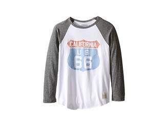 Original Retro Brand The Kids Cali 66 Long Sleeve Baseball Cali 66 Raglan (Big Kids)