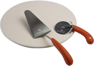 Charcoal Companion Pizzacraft 3-pc. 16 Pizza Stone with Cutter & Server Set