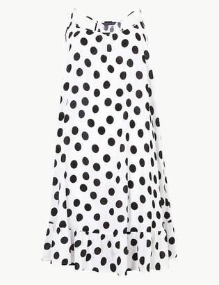 Marks and Spencer Spotted Flippy Slip Beach Dress