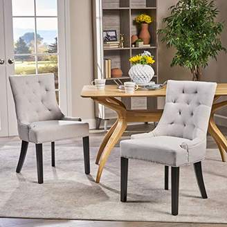 Christopher Knight Home 299538 Hayden Fabric Dining Chairs (Set of 2)