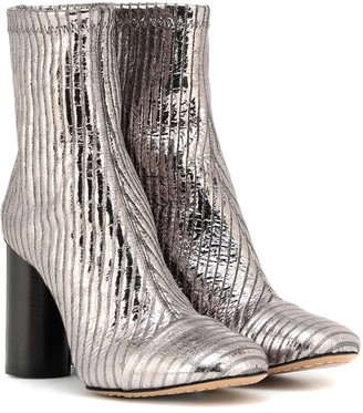4f65d7408e6 Isabel Marant Rillyan metallic leather ankle boots