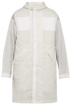 Helmut Lang Parachute Double Layer Semi Sheer Parka - Mens - White