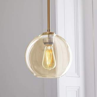west elm Sculptural Glass Globe Pendant - Small (Champagne)