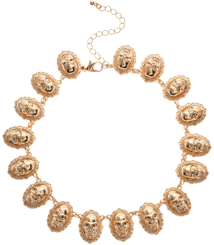 Asos Skull Linked Necklace