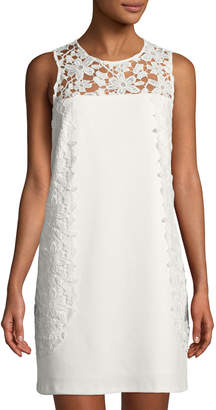 Nanette Lepore Nanette Crochet-Yoke Sleeveless Sheath Dress
