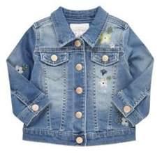 F&F Embroidered Denim Jacket 6-9 months