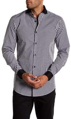 22 7 Binks Checker Pattern Long Sleeve Trim Fit Shirt