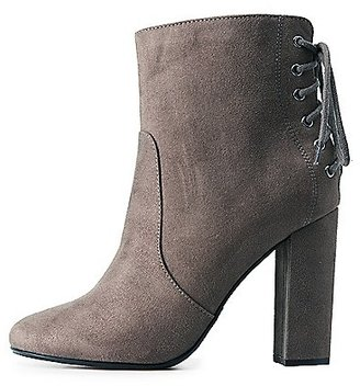 Lace-Up Back Ankle Booties $38.99 thestylecure.com