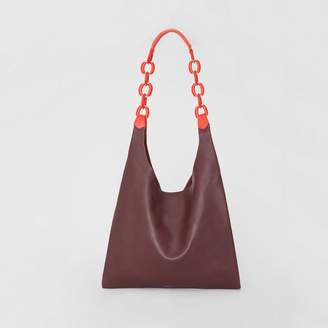 Burberry Medium Two-tone Leather Shopper