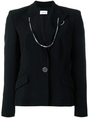 Thierry Mugler chained trim blazer