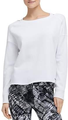 Donna Karan Distressed Cutout Sweatshirt