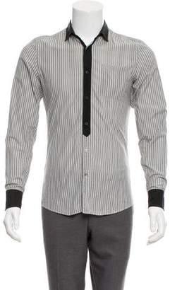 Gucci Collared Pinstripe Shirt