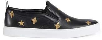 Gucci Leather slip-on sneaker with bees