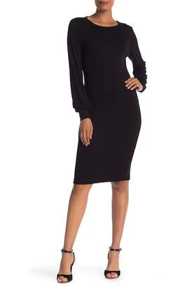 Catherine Malandrino Long Sleeve Knit Swing Dress
