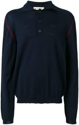 Marni contrast edge polo shirt