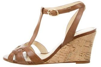 Alexandre BirmanAlexandre Birman Leather Wedge Sandals