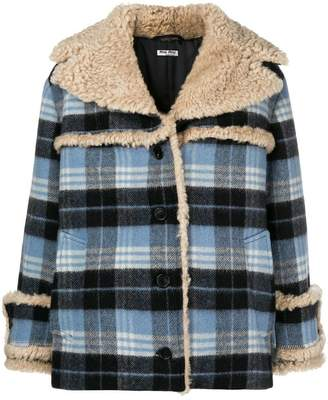 Miu Miu checked jacket