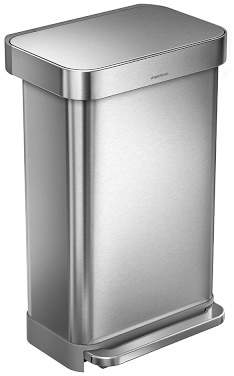 Williams-Sonoma Williams Sonoma simplehumanTM; Rectangular Step Can with Liner Pocket, Brushed Stainless-Steel