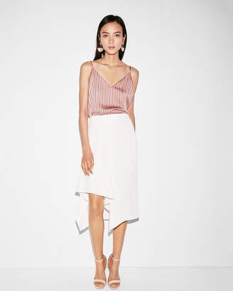 Express High Waisted Asymmetrical Hem Pencil Skirt