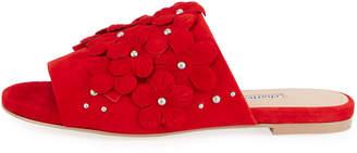 Charles David Sicilian Flower Slide Sandal