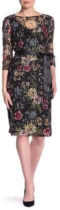 Chetta B 3\u002F4 Sleeveless Printed Dress