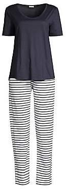 Hanro Women's Laura Two-Piece Striped Pajama Set