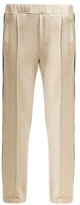 Fendi Logo Tape Track Pants - Womens - Cream Multi
