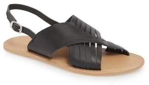 Topshop Hottie Cross Strap Flat Sandal