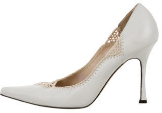 Brian Atwood Leather Pointed-Toe Pumps $75 thestylecure.com