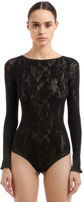Wolford Louise Lace String Bodysuit