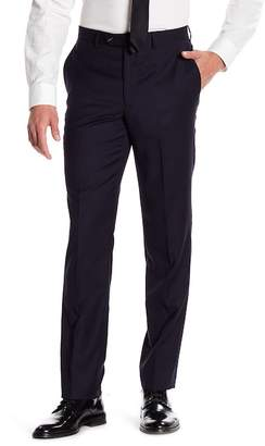 """John Varvatos Collection Navy Woven Mid Rise Wool Trousers - 30-34\"""" Inseam"""