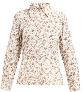D'Ascoli Tabriz Floral Print Cotton Shirt - Womens - Yellow Print