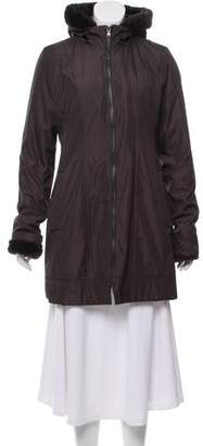 Andrew Marc Hooded Short Coat