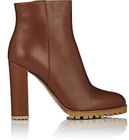 Gianvito Rossi Women's Leather Side-Zip Ankle Boots - Luggage