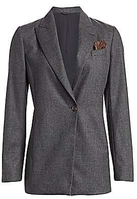 Brunello Cucinelli Women's Stretch Wool Jacket & Pocket Square