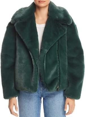 Heurueh Greta Faux Fur Moto Jacket - 100% Exclusive