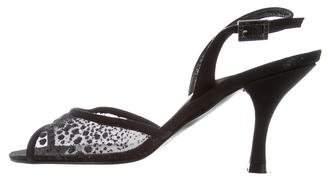 Stuart Weitzman Mesh Slingback Sandals