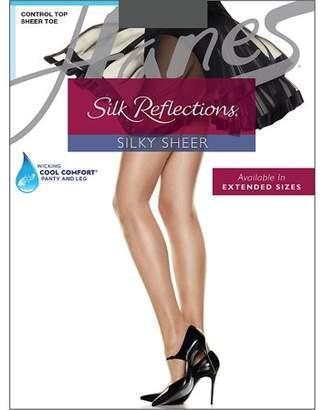 Hanes Womens Control Top Sheer Toe Silk Reflections Panty Hose